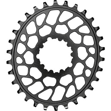 Absolute Black Oval Narrow-Wide Direct Mount Chainring - SRAM 3-Bolt Direct Mount, 0mm Offset