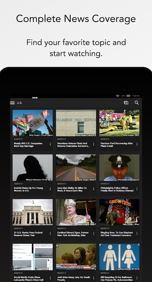 Newsy: Video News- screenshot