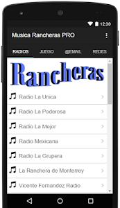 Musica Rancheras PRO screenshot 0