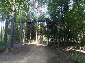 Photo: Path up to Alumni Field.