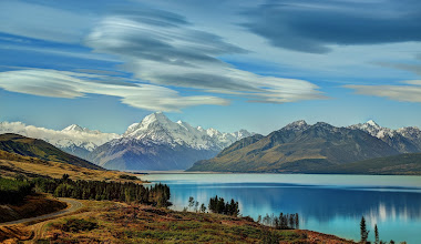 Photo: Lake Pukaki and Lenticular Clouds over Mount Cook  Here's another photo from last week's travels across the south island of New Zealand with Tom. It was a weather-perfect day, and everything was like walking around a painting...  Don't forget about our live show tonight where we'll talk about The Transition from Hobby to Pro Photographer at 7 PM PT, 10 PM PT. We'll be joined by +Clayton Morris (from Fox News), +Alfie Goodrich (who wrote the article below), +Nicole S. Young (pro), +Scott Jarvie (studly pro) +Gino Barasa (no qualifications whatsoever) and +Melvin Little (pro-curious) - Event details athttps://plus.google.com/events/c9m429kjegt5jrrmgaf2e014lsg