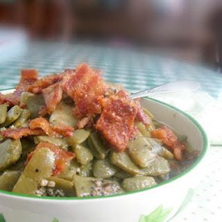 Seasoned Flat Italian Green Beans Southern Style.