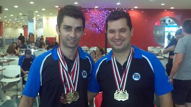 Photo: Renan Zoghaib & Igor Pizzoli (OURO nas duplas masculinas 1.ª divisão)