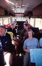 Photo: Inside the Flying Kiwi bus