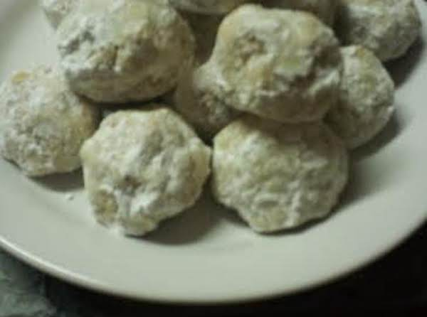 Almond Shortbread Snowballs