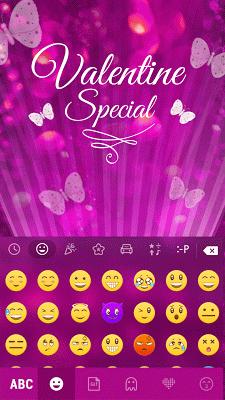 GlitterButterfly KeyboardTheme - screenshot