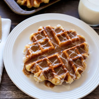 Cinnamon Roll Liege Waffles – Belgian Sugar Waffles
