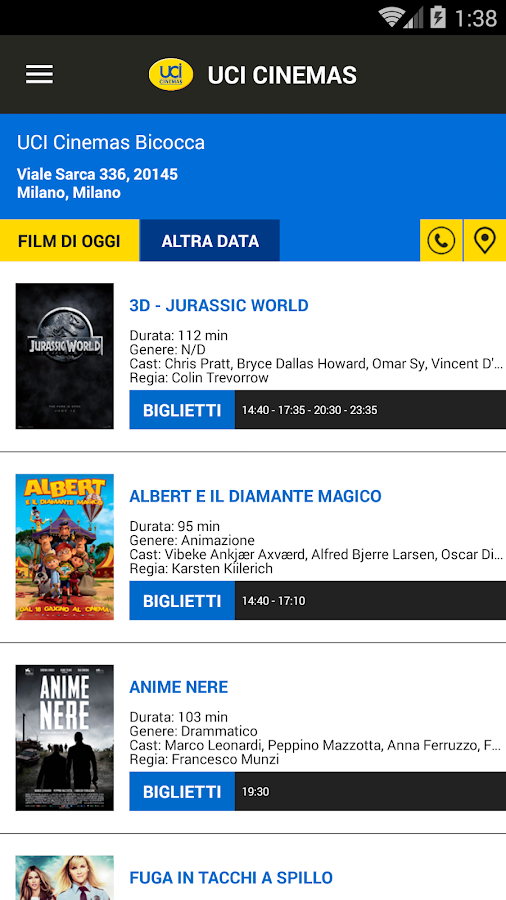 UCI CINEMAS ITALIA - screenshot