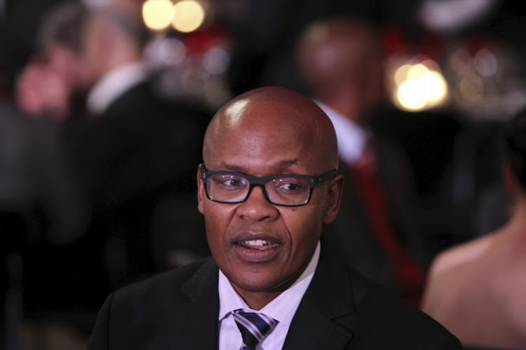 Jimmy Manyi at the launch of ANN7 news channel on August 21, 2013, in Johannesburg.