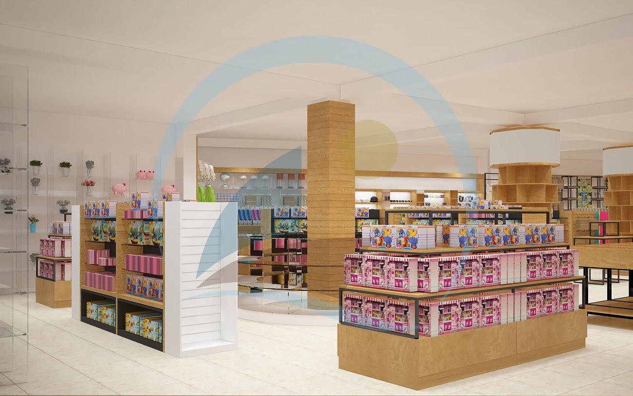thiết kế nội thất nhà sách Trí Đức 2