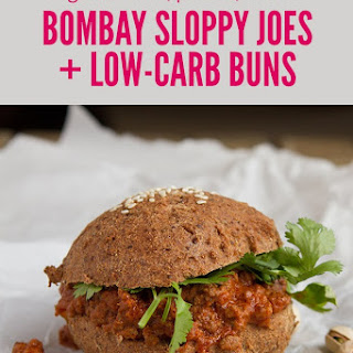 Bombay Sloppy Joe on Low-Carb Buns