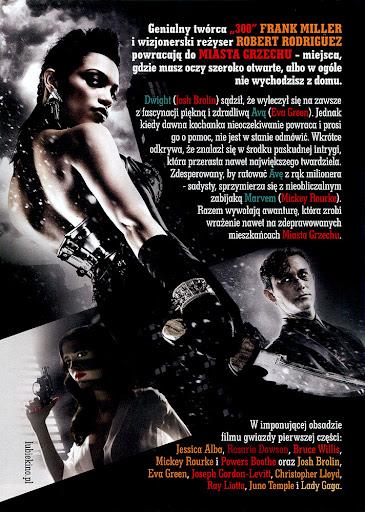 Tył ulotki filmu 'Sin City 2: Damulka Warta Grzechu'