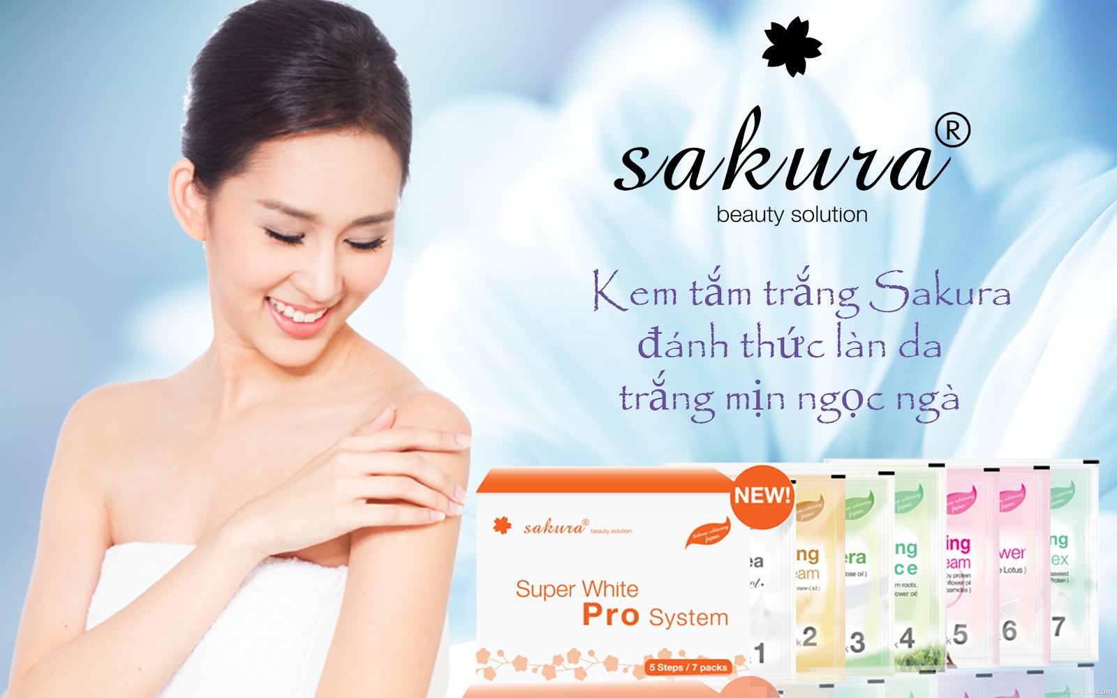 Kem tắm trắng Sakura có hiệu quả không?