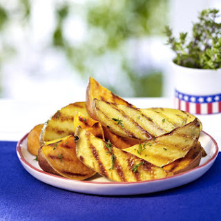Thyme-Grilled Potato Wedges