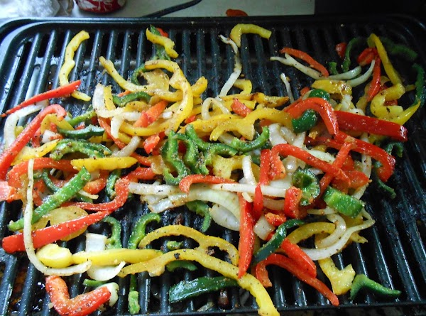 Slice veggies and drizzle with a little olive oil, sprinkle with a small amount...
