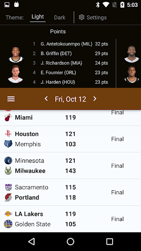 Sports Alerts - NBA edition 2.7.2 screenshots 1