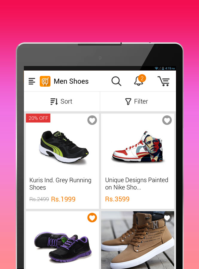 Contus MComm(Mobile eCommerce)- screenshot
