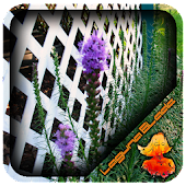 White Lattice Fence Design