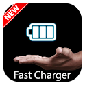 Fast charging battery booster icon
