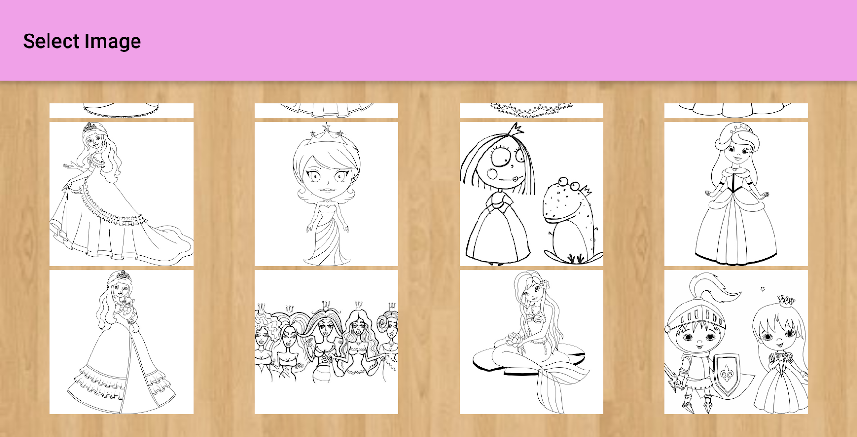 princess coloring pages android apps on google play