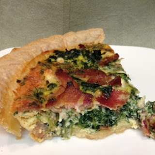 SPINACH, BACON AND BLUE CHEESE QUICHE