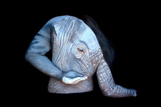 Photo: Body painting elefante
