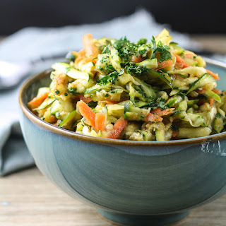 Zucchini Slaw with Miso-Ginger Dressing
