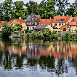 Danish homes by Gianluca Presto - Buildings & Architecture Homes ( water, home, reflection, water reflection, houses, buildings, lake, architecture, denmark, house, homes )