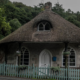 the thatch by Nigel Clackworthy - Buildings & Architecture Homes ( picket fencing, historical buildings, trees, cottages, thatched roofing )