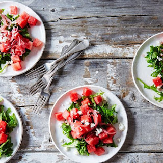 Watermelon, Arugula, and Pickled Onion Summer Salad