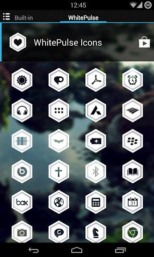 WhitePulse Icons (ADW/NOVA/GO) 1.1 screenshots 4