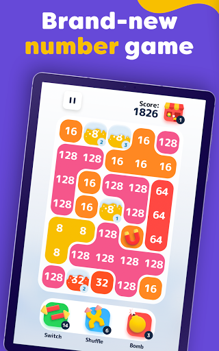 LAVA - Merge Number Blocks with 2048 game screenshot 10
