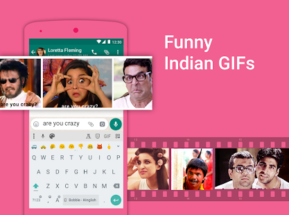 Bobble Indic Keyboard - Stickers, Fonts & Themes Screenshot