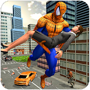 Flying Spider Hero City Rescue Survival Mission