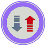 Internet data rate meter Icon