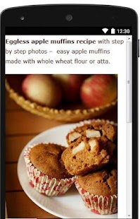 Eggless Apple Muffins Recipe - náhled