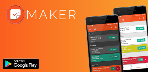 Maker - To Do list, plan your day, plan your success!<br>Smart To-Do app for you