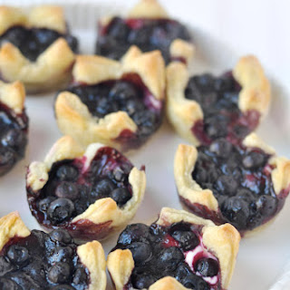 Lemon Blueberry Cheesecake Pastry Bites