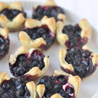 Lemon Blueberry Cheesecake Pastry Bites