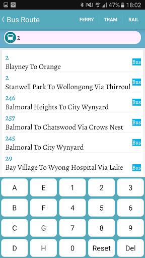 sydney bus screenshot 2