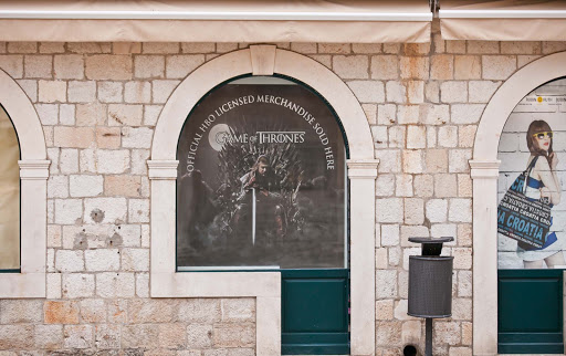 "Game-of-Thrones.jpg - A shop dedicated to fans of TV's ""Game of Thrones."" Some locations on the show are filmed in Dubrovnik."