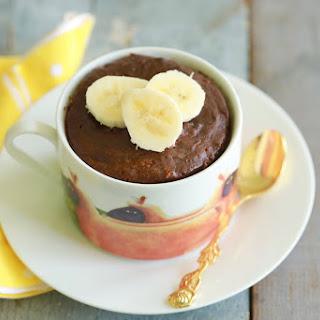 Chocolate Banana Mug Cake.