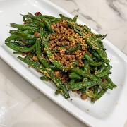 J13. Stir Fried Green Bean with Minced Pork