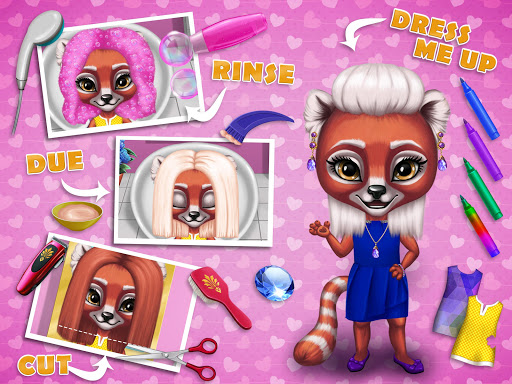 Fashion animals hair salon game apk free download for for Salon games free download