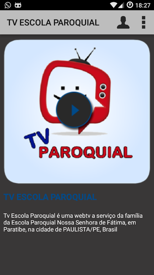 TV ESCOLA PAROQUIAL- screenshot