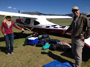 Photo: Arrived Safely at Smiley Creek With Mass Quantities. Kyle and Jill Garrett Marvel At The Size Of The Load
