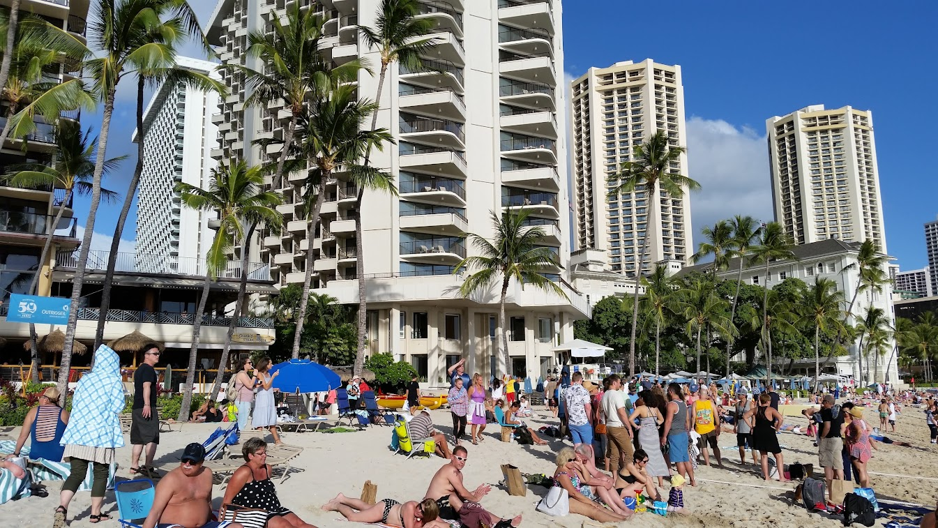 Waikiki and nearby Fort DeRussy Beach