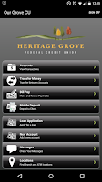 Screenshot of Heritage Grove FCU Mobile
