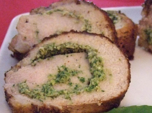 Lemon-basil Pesto Stuffed Pork Tenderloin Recipe