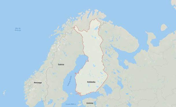Mapa Finlândia